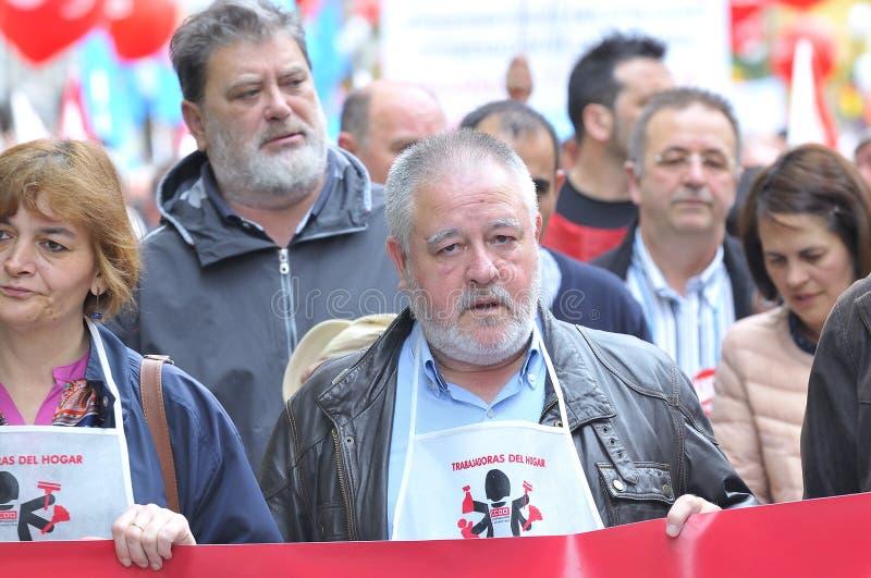 Демонстрация 1-ое мая в Gijon, Испании стоковая фотография