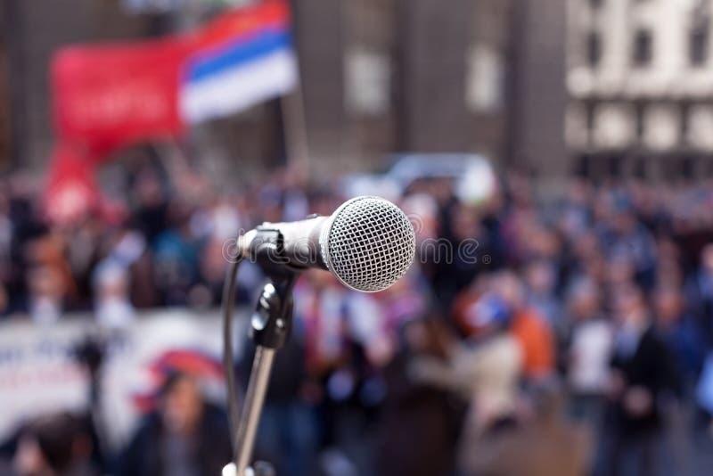 Демонстрация публики протеста стоковая фотография rf