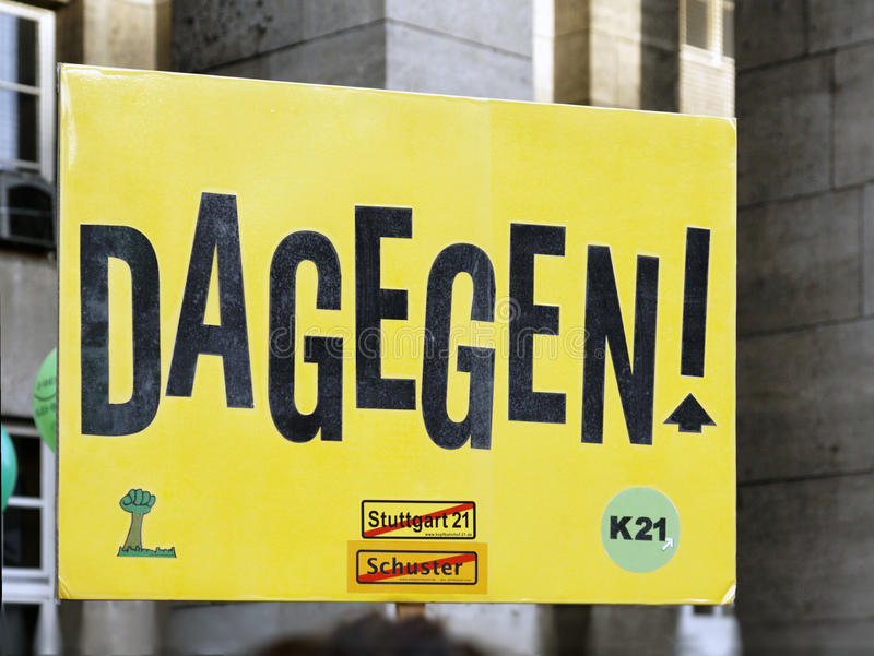 демонстрация k21 stuttgart стоковые фотографии rf