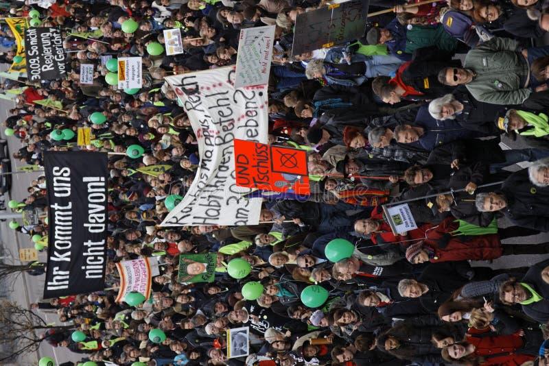 демонстрация k21 stuttgart стоковая фотография