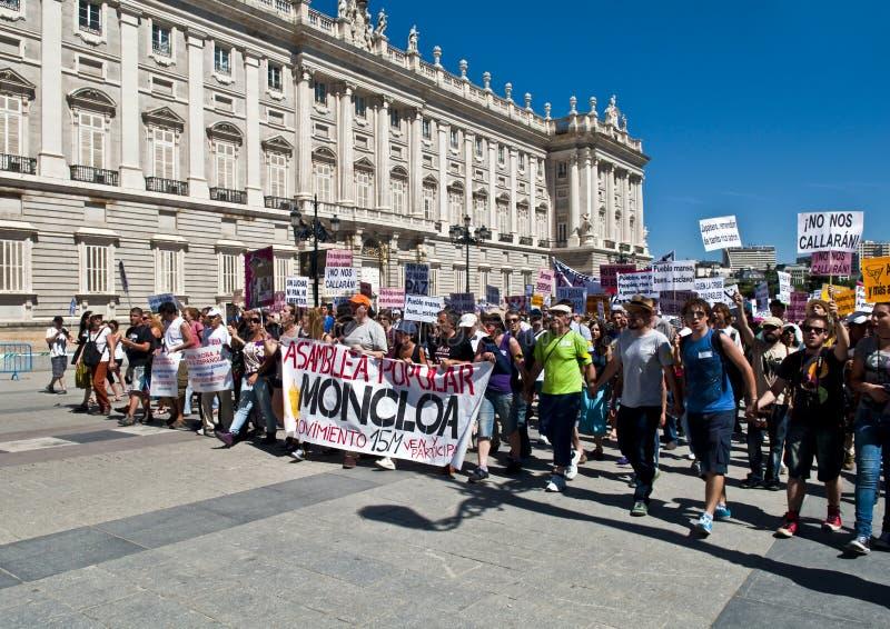 демонстрация madrid стоковая фотография