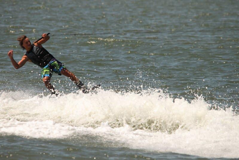 Демонстрация Wakeboarding стоковое фото rf