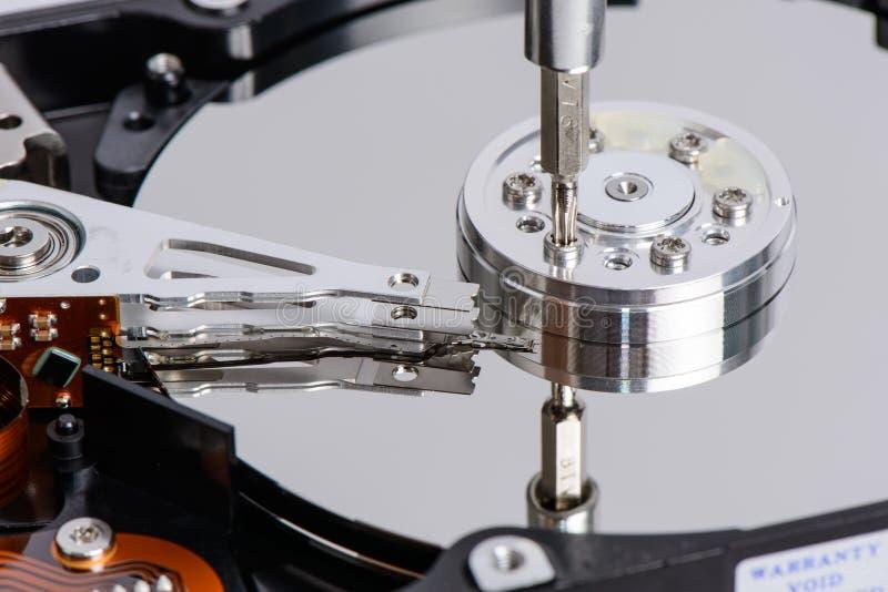 Демонтируйте дисковод жесткого диска стоковое фото
