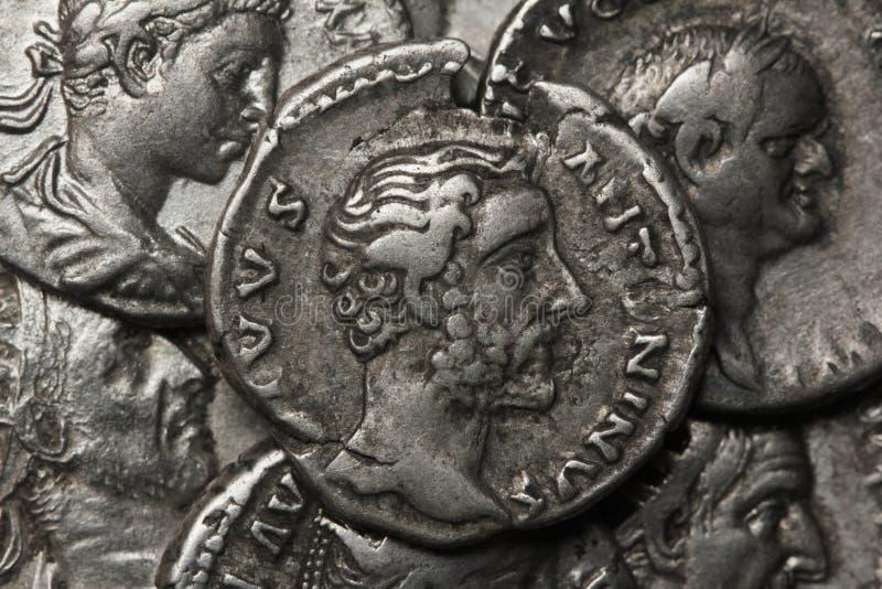 Денарий, Antoninus Pius стоковая фотография rf