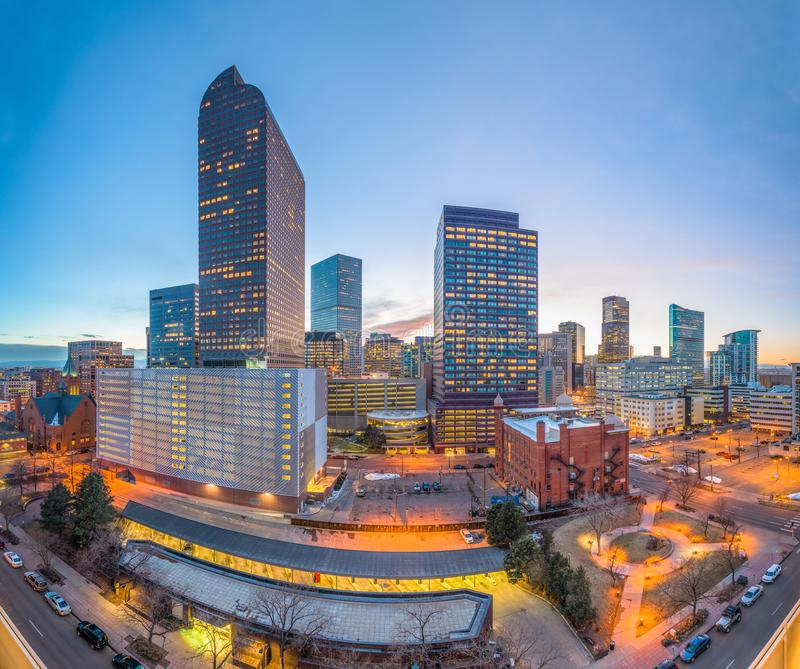Денвер, Колорадо, городской пейзаж США городской стоковое изображение
