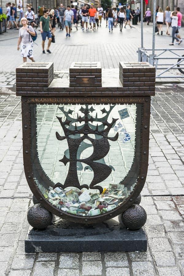 Денежный ящик в Кракове стоковая фотография rf