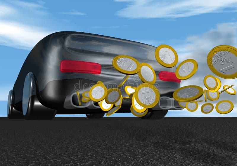 деньги автомобиля бесплатная иллюстрация