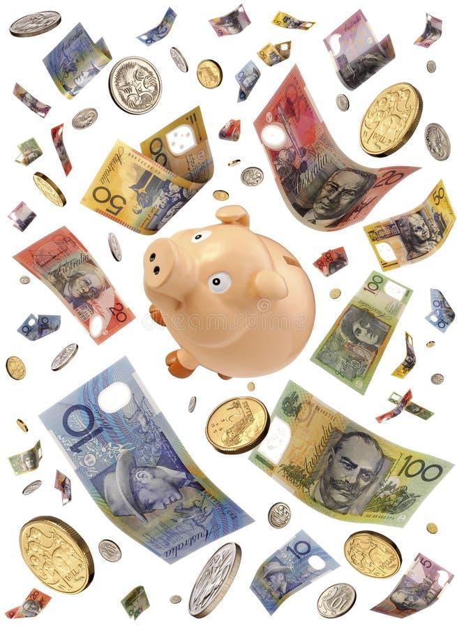 деньги банка Австралии piggy стоковые изображения rf
