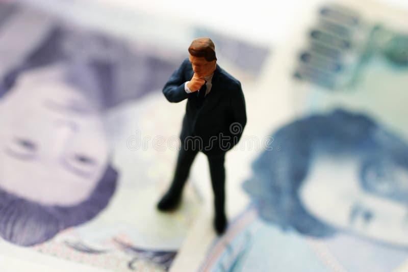 деньги бизнесмена банка стоковое фото rf