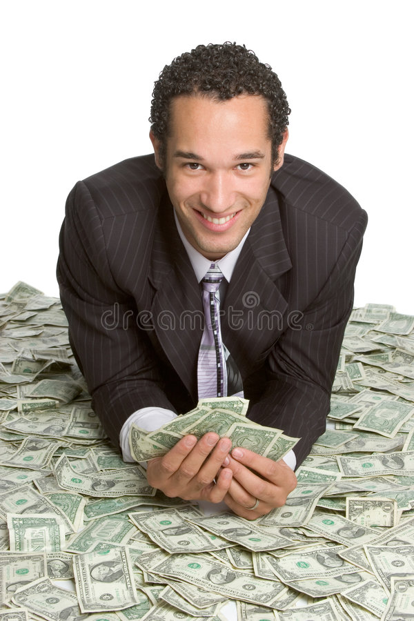 деньги бизнесмена стоковое фото