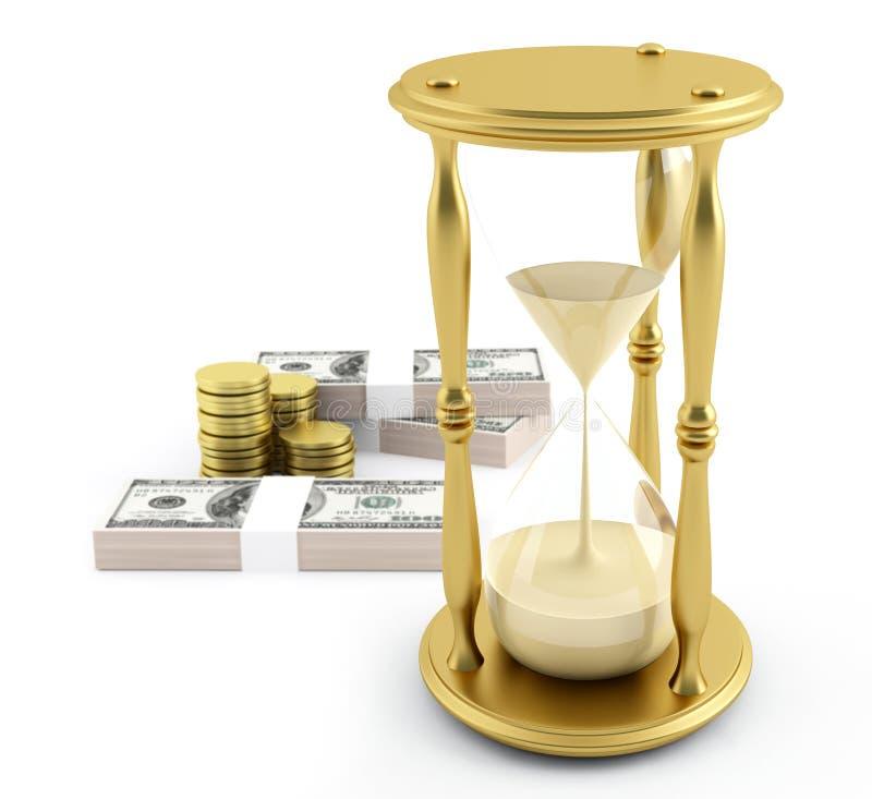 деньги больше времени иллюстрация вектора