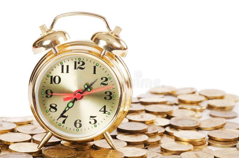 деньги будильника стоковое изображение rf