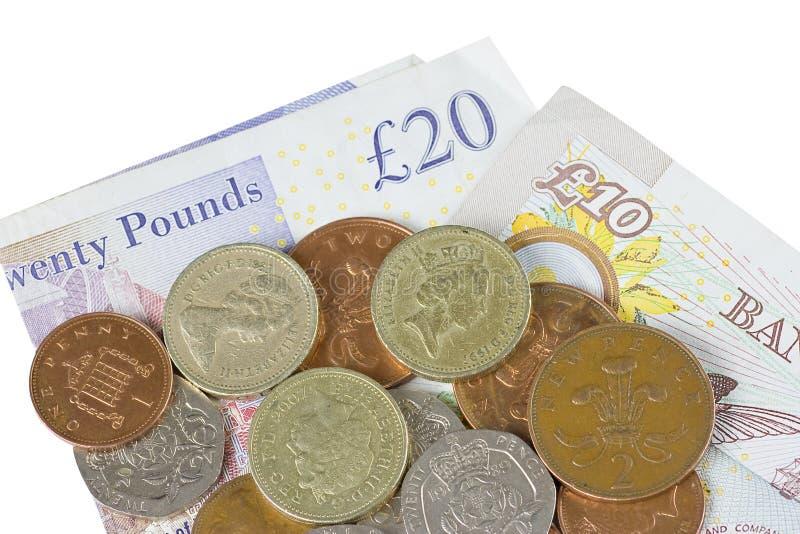 деньги Великобритания стоковое изображение rf