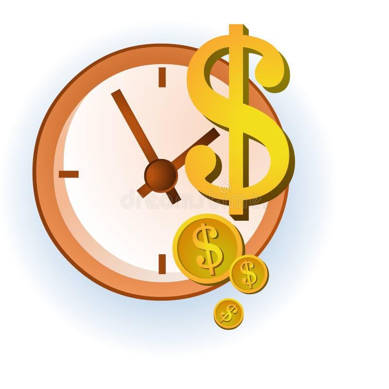 Деньги время иллюстрация вектора