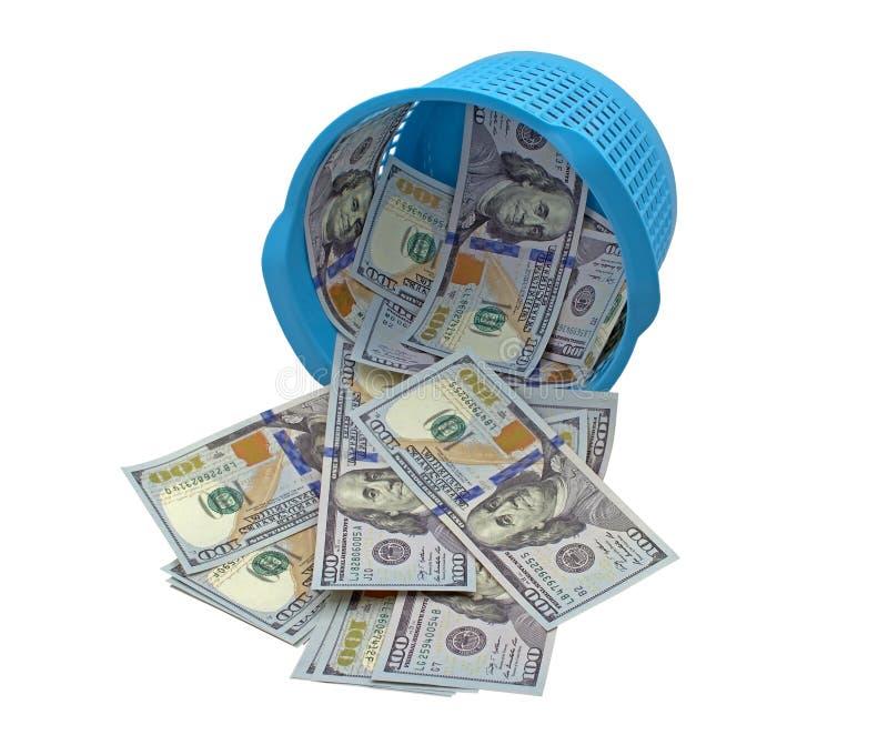 Деньги в корзине стоковые фотографии rf