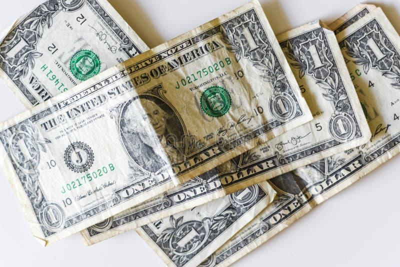 Деньги в куче, куча американских примечаний валюты Предпосылка денег долларовых банкнот за наличные стоковые фотографии rf