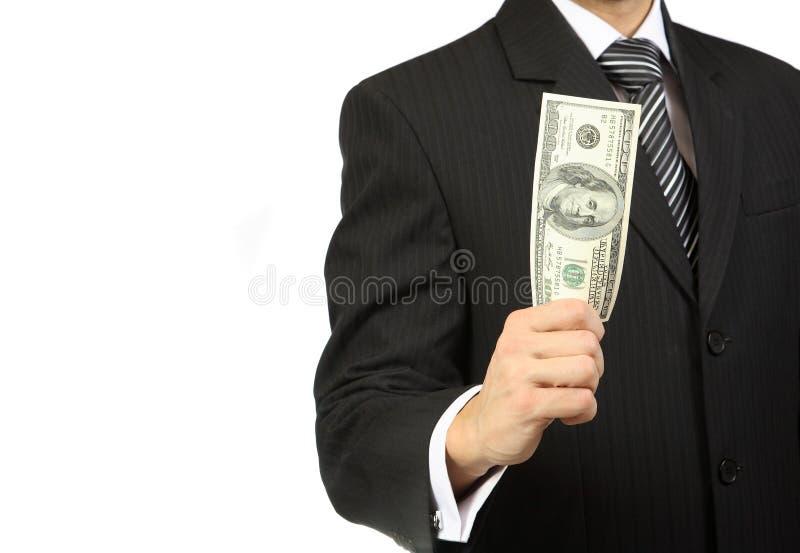 Деньги в руке стоковая фотография rf