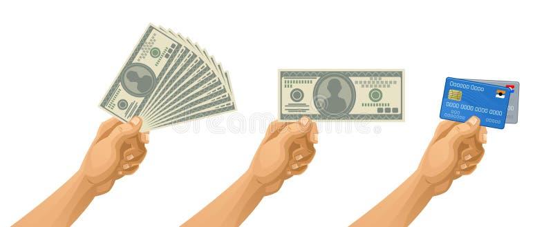Деньги в руке бесплатная иллюстрация