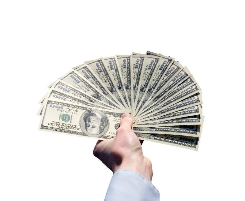 Download Деньги в руке стоковое изображение. изображение насчитывающей американская - 33729221
