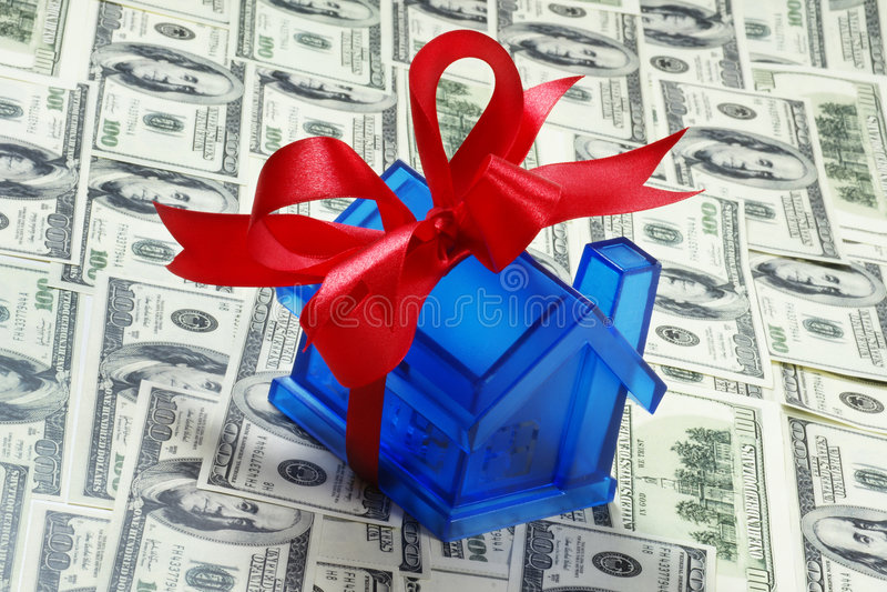 деньги дома стоковые фотографии rf