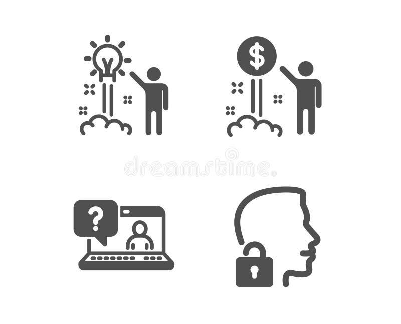 Деньги дохода, Ч.З.В. и творческие значки идеи Откройте знак системы Богатство, поддержка сети, запуск Доступ подарил r бесплатная иллюстрация