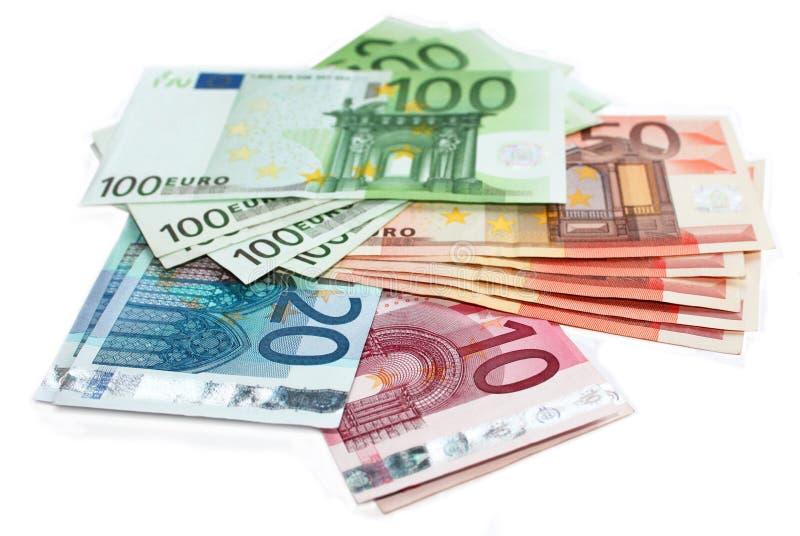 деньги евро кредиток стоковое изображение rf