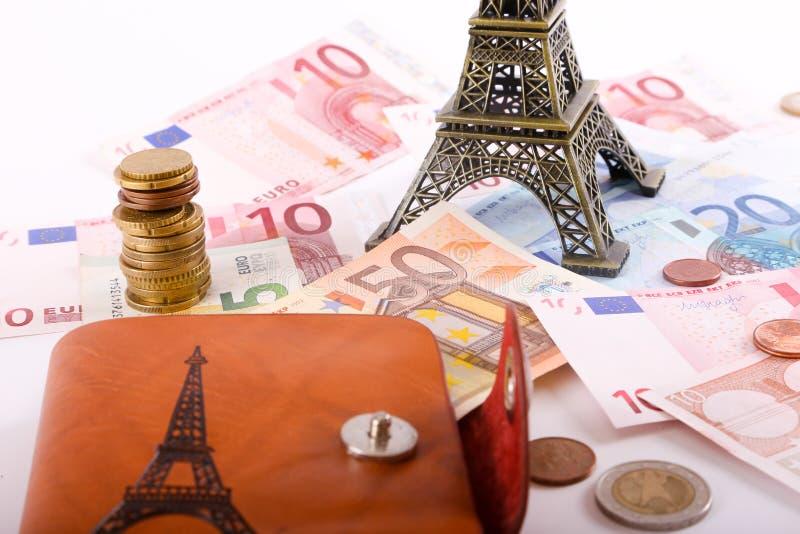 Деньги евро Парижа стоковое изображение rf