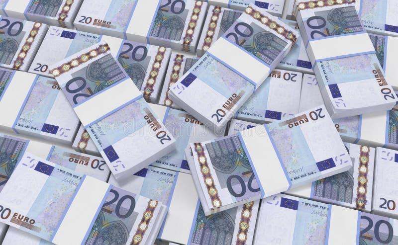 деньги евро 20 предпосылка наличных денег евро Банкноты денег евро бесплатная иллюстрация