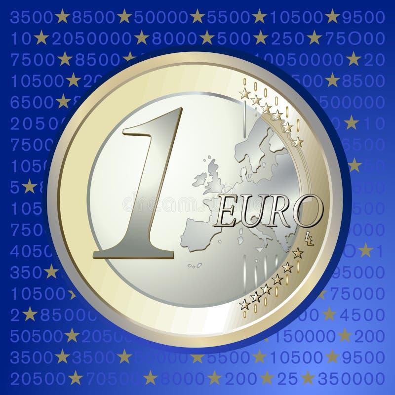 деньги евро иллюстрация вектора