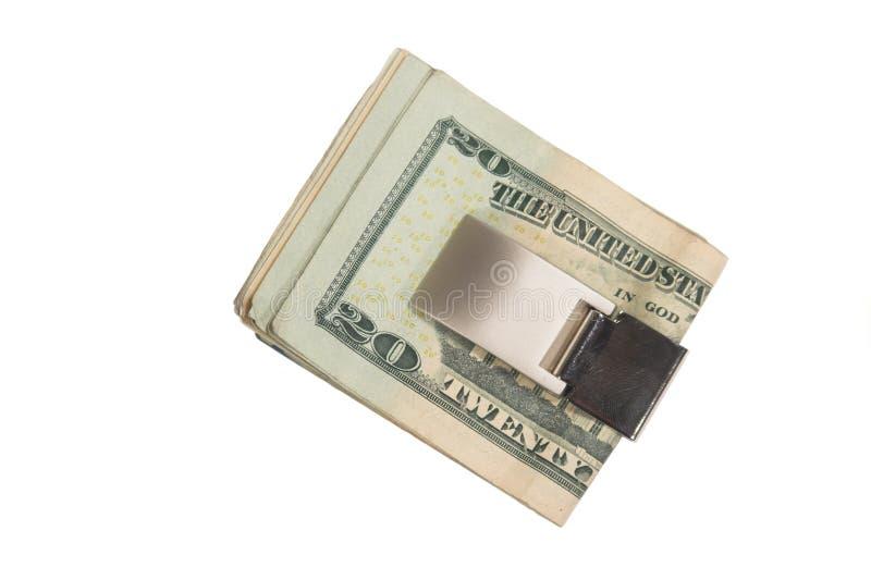 деньги зажима стоковое изображение rf