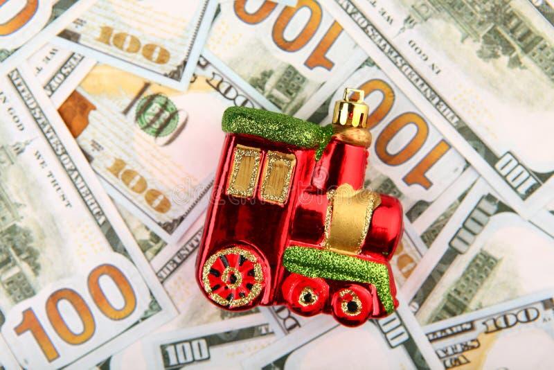 Деньги игрушки Нового Года стоковая фотография