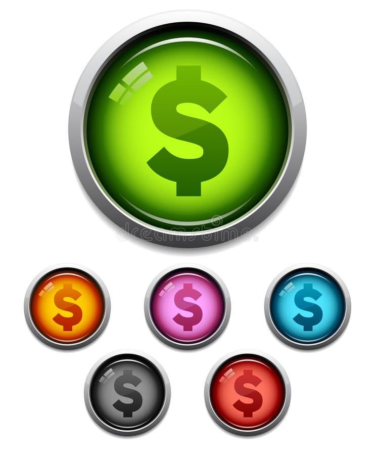 деньги иконы кнопки бесплатная иллюстрация