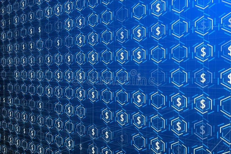 Деньги и концепция богатства иллюстрация вектора