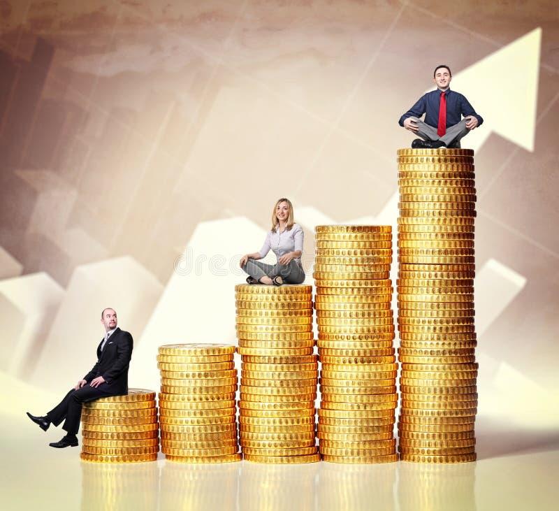 Деньги и люди стоковая фотография rf