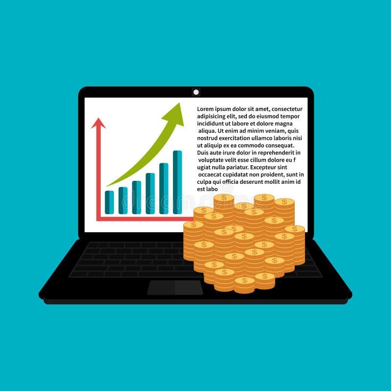 Деньги и финансовое, графический дизайн рынка, модель торговца иллюстрация штока