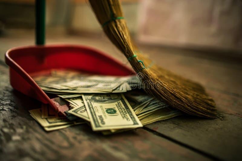 Деньги как отброс стоковые изображения