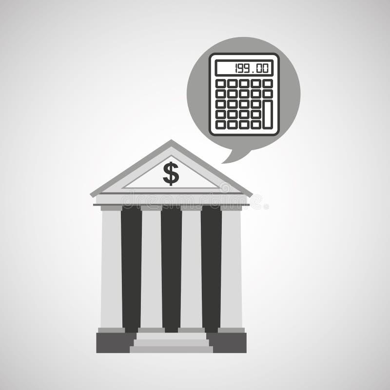 Деньги калькулятора экономики банка здания бесплатная иллюстрация