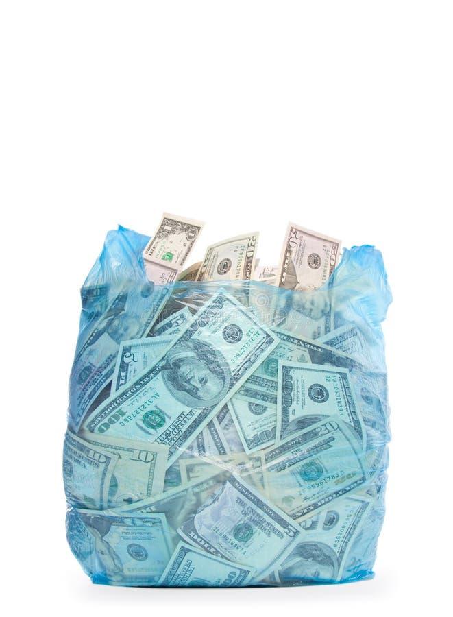 деньги мешка стоковые изображения rf