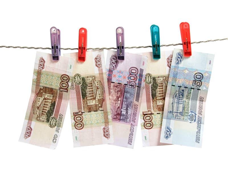 деньги над русской белизной стоковые фото