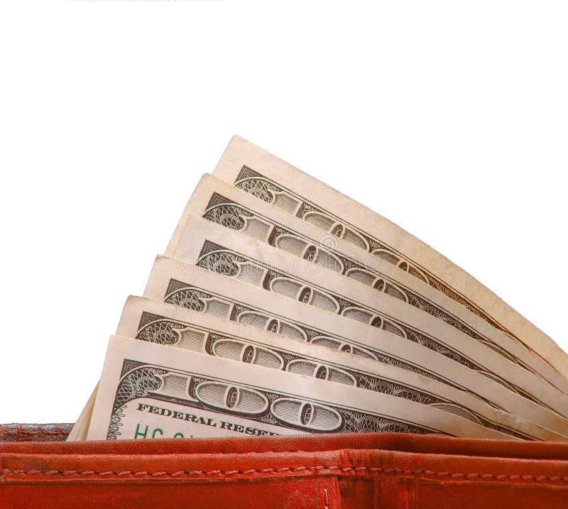 Деньги наличных денег в бумажнике стоковая фотография