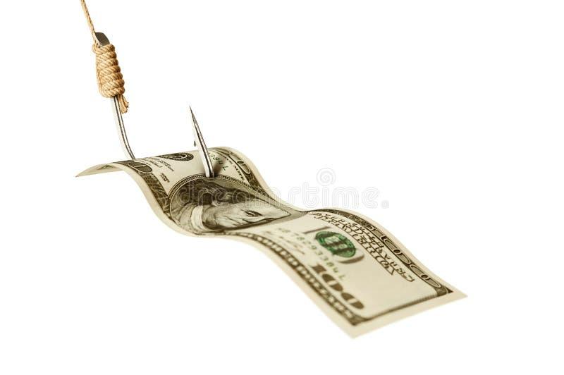 Деньги на крюке стоковые фотографии rf