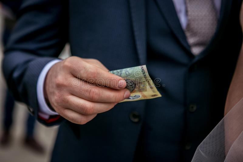 Деньги невесты стоковое изображение