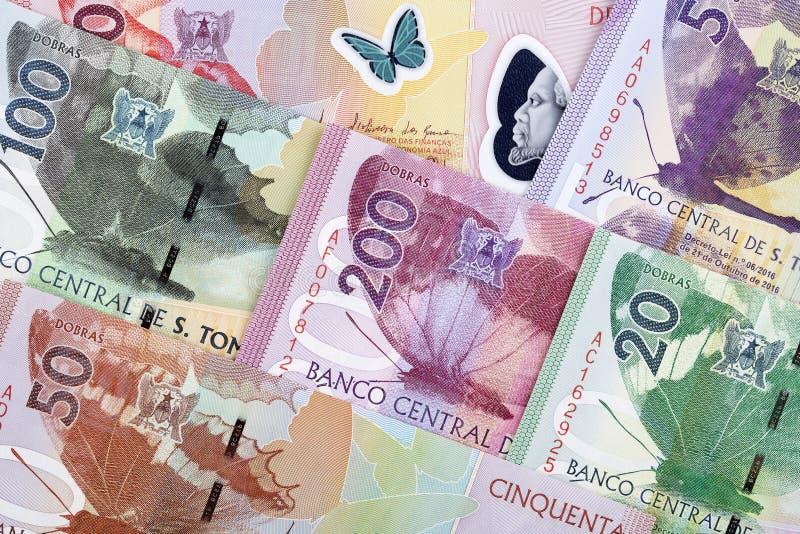 Деньги от St. Thomas & принца предпосылка стоковое фото