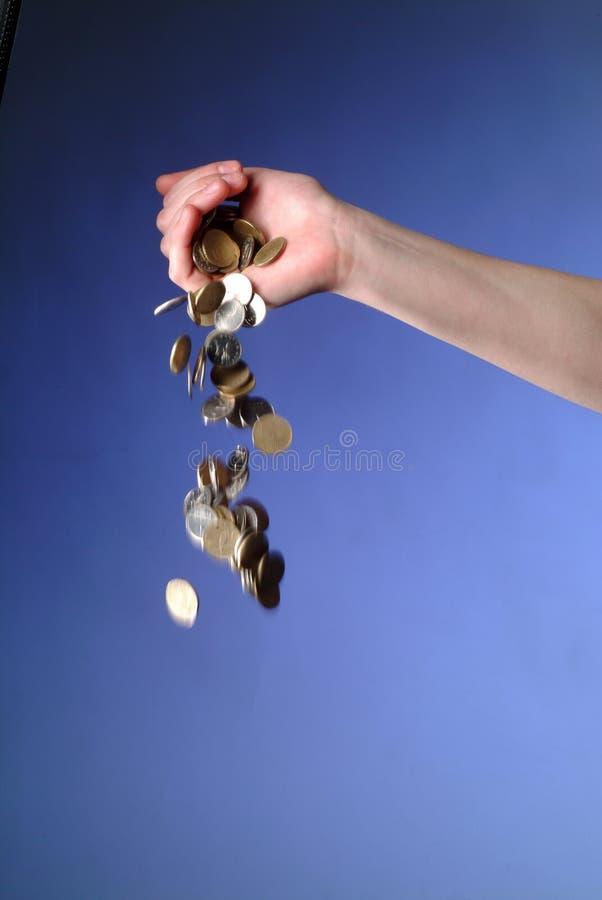 деньги падения стоковое изображение rf