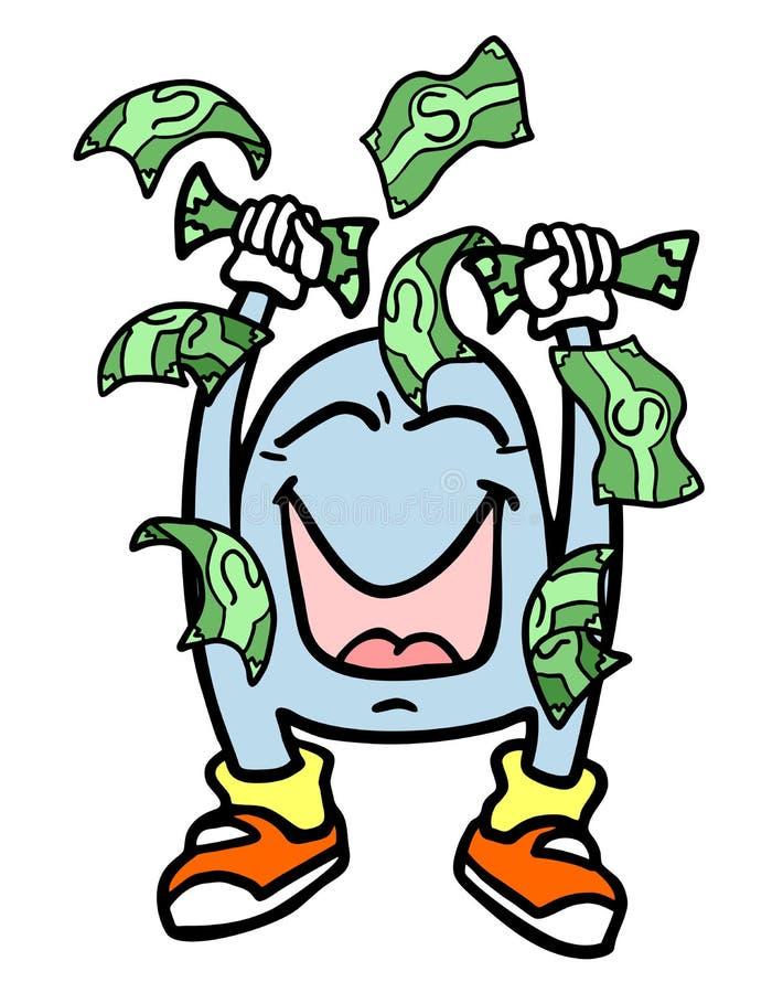Деньги победителя иллюстрация штока