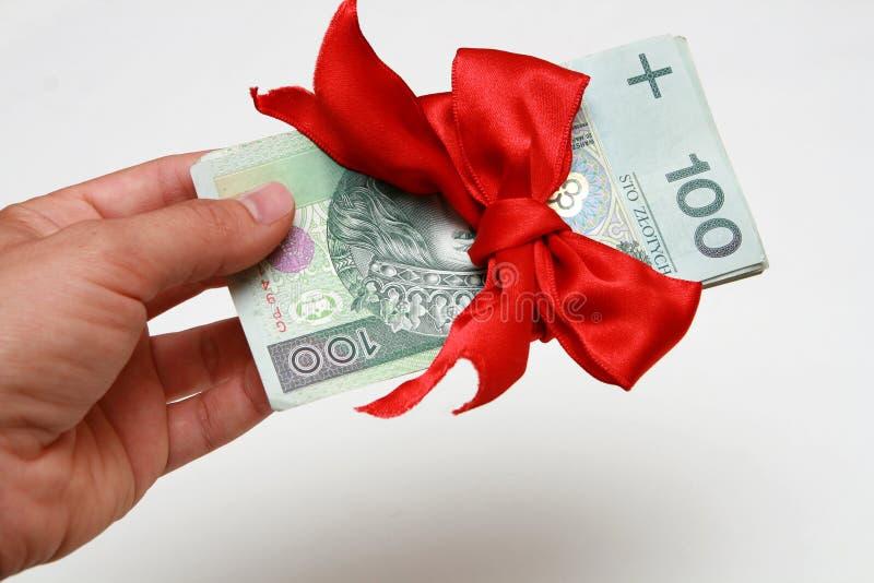 деньги подарка стоковая фотография