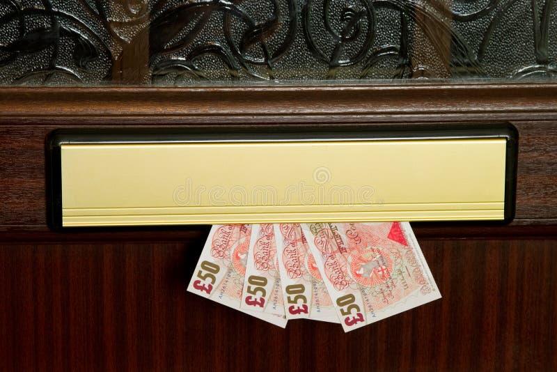 деньги почтового ящика стоковая фотография rf