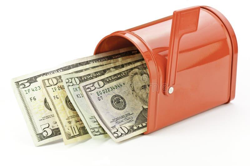 деньги почтового ящика стоковые изображения rf