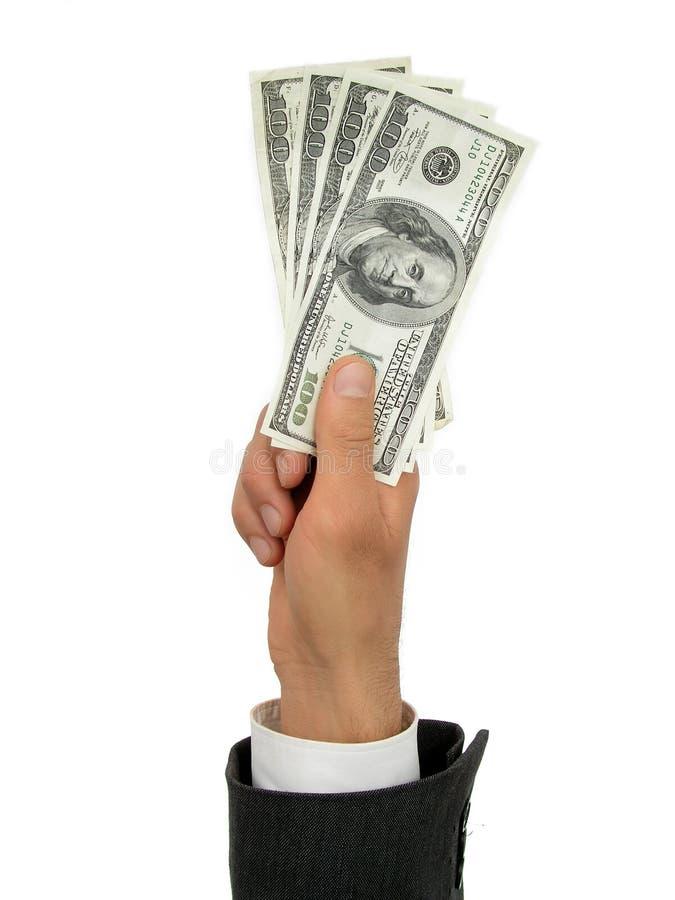 деньги пригорошни стоковые изображения rf