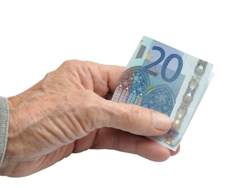 деньги руки стоковые изображения rf